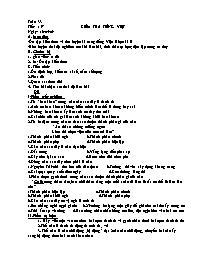 Bài soạn Ngữ văn 9 - Tiết 157: Kiểm tra Tiếng