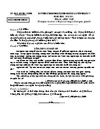 Đề thi chọn học sinh giỏi cấp tỉnh Hà Tĩnh lớp 9 năm học 2010-2011 môn thi Ngữ Văn