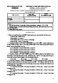 Đề thi hội giảng cấp THCS tỉnh Ninh Bình lần