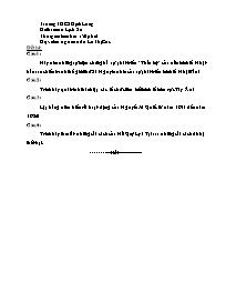 Đề thi môn Lịch sử - Trường THCS Định Long