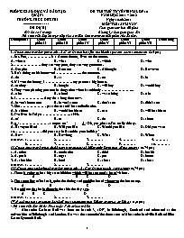 Đề thi thử tuyển sinh lớp 10 năm học 2011 – 2