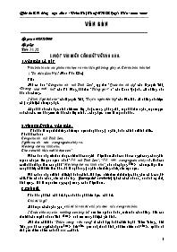 Giáo án Bồi dưỡng ngữ văn 9 - Phần Văn bản -