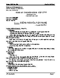 Giáo án hội giảng Ngữ văn 9 - Tuần 21 Tiết 96