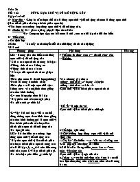 Giáo án môn Ngữ văn lớp 7 - Tiết 102: Dùng cụ