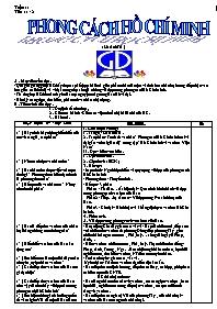 Giáo án môn Ngữ văn lớp 9 - Học kì 1