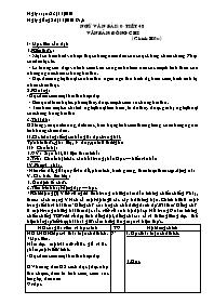 Giáo án Ngữ văn 9 - Bài 10 Tiết 48: Văn bản: