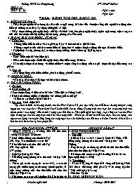 Giáo án Ngữ văn 9 - Tuần 11 - GV: Trần Văn Hu