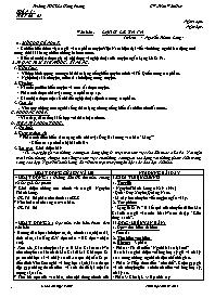 Giáo án Ngữ văn 9 - Tuần 14, 15, 16 - GV: Trầ
