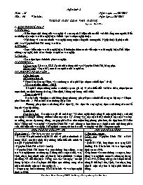 Giáo án Ngữ văn 9 - Tuần 21 - GV: Trần Văn Hu
