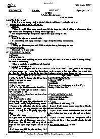 Giáo án Ngữ văn 9 - Tuần 24, 25 - GV: Trần Vă
