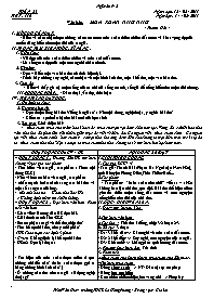 Giáo án Ngữ văn 9 - Tuần 25 - GV: Trần Văn Hu