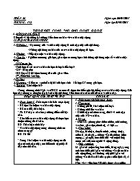 Giáo án Ngữ văn 9 - Tuần 28 - GV: Trần Văn Hu