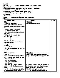 Giáo án Ngữ văn lớp 7 - Tiết 100: Luyện tập v