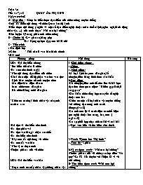 Giáo án Ngữ văn lớp 7 - Tiết 117, 118: Quan Â