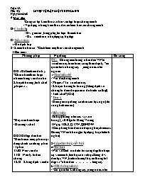 Giáo án Ngữ văn lớp 7 - Tiết 92: Luyện tập lậ