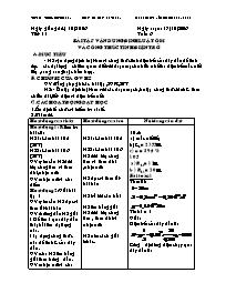 Giáo án Vật lí 9 - Tiết 11 Tuần 6: Bài tập vậ
