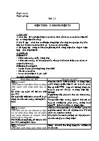 Giáo án Vật lí 9 - Tiết 32 đến 35 - GV: Lê Văn Tiến - THCS Bát Trang