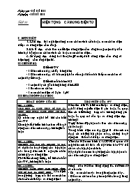 Giáo án Vật lí 9 - Tiết 33 đến 39