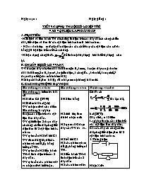 Giáo án Vật lí 9 - Tiết 9: Sự phụ thuộc của đ