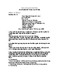 Gợi ý lời giải môn Văn (Kỳ thi tuyển sinh vào lớp 10 tại Hà Nội)